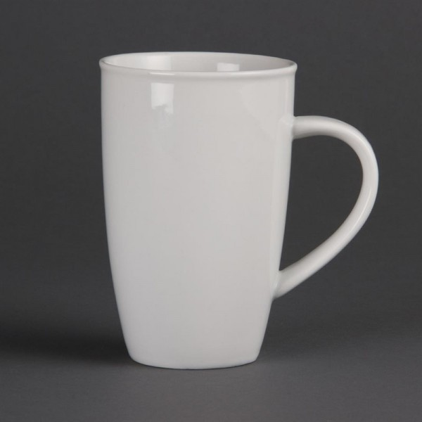 Olympia Whiteware Kaffeetassen 40cl 6 Stück