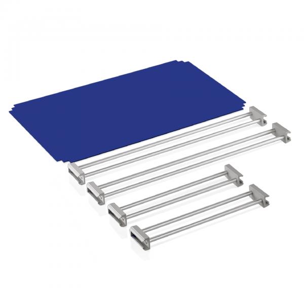 Abdeckung & Reling für Tablettwagen 1960 531, RAL 5005, blau, Premium+