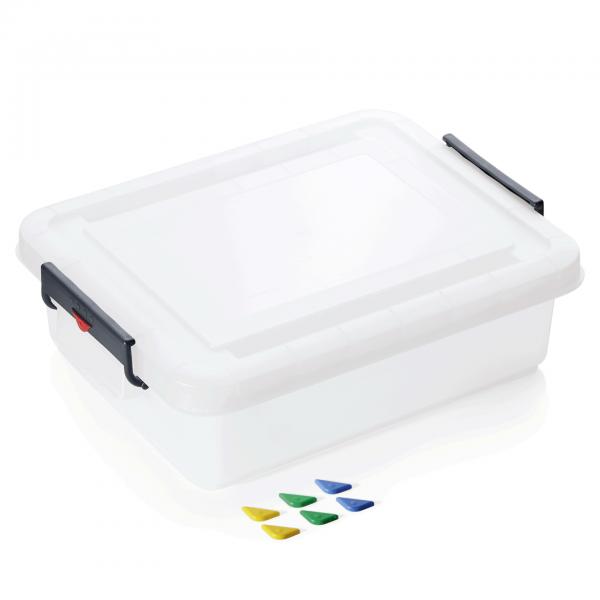 Lebensmittelbehälter mit Deckel, 30 ltr., 53 x 39,6 x 15,9 cm, Polypropylen