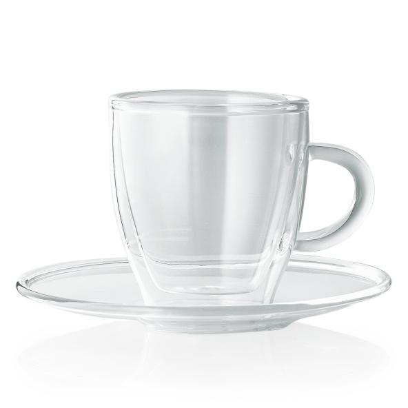 Espresso Obertasse inkl. Untertasse Enjoy, 0,08 ltr., Borosilikatglas