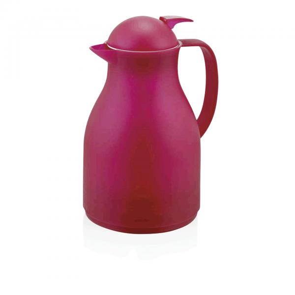 Isolierkanne, 1,0 ltr., rot, Kunststoff