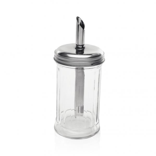 Zuckerspender, 0,30 ltr., Glas/Edelstahl
