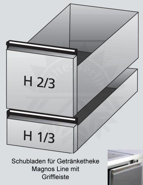 Schubladen 2/3 + 1/3 für Getränketheke Magnos Line