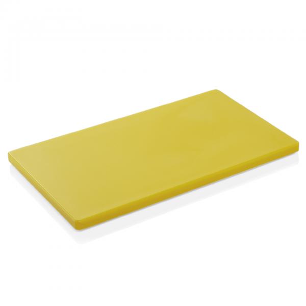 Schneidbrett HACCP, 60 x 40 x 2 cm, gelb, Polyethylen