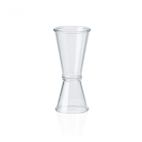 Doppelbarmaß 0,02/0,04 ltr., Polycarbonat