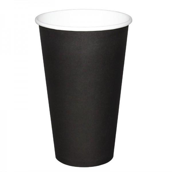 Fiesta Coffee To Go Becher 450ml schwarz x50 50 Stück