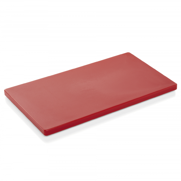Schneidbrett HACCP, 60 x 40 x 2 cm, rot, Polyethylen