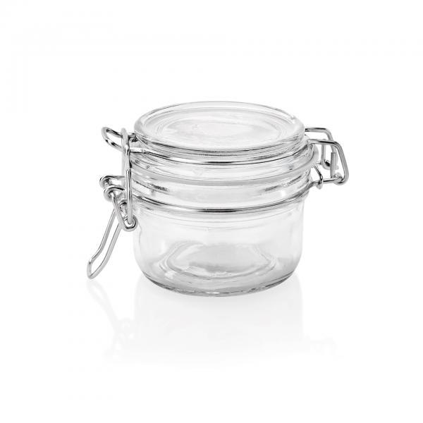 Bügelverschlussglas mit Deckel, 0,15 ltr., Ø 8 cm, Glas
