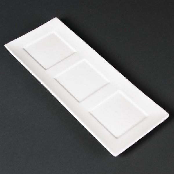 Lumina Präsentierschalen quadratische Vertiefungen 30 x 12cm 6 Stück