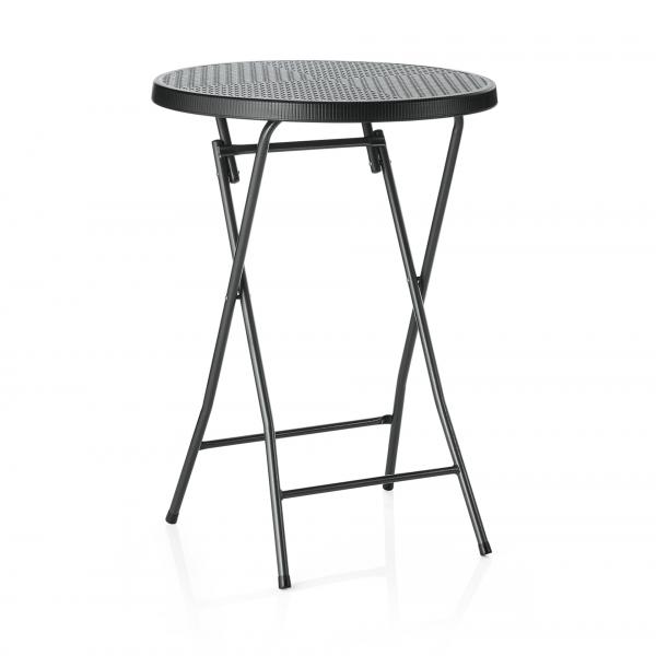 Stehtisch, Rattan Design, Ø 80 cm, 110 cm, HDPE