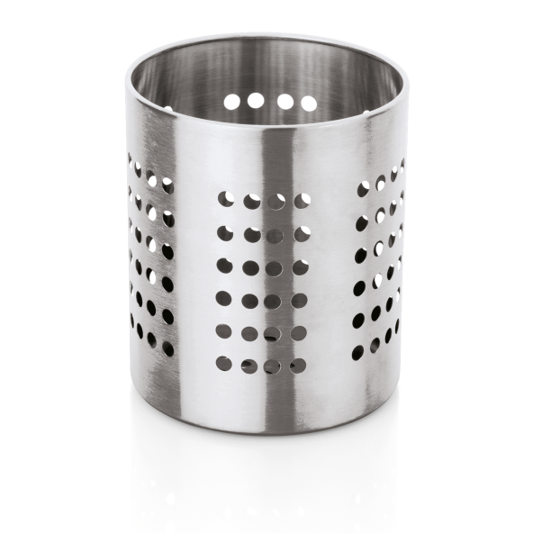 Küchenutensilien-Halter, Ø 12 cm, Höhe 14 cm, perforiert, Chromnickelstahl
