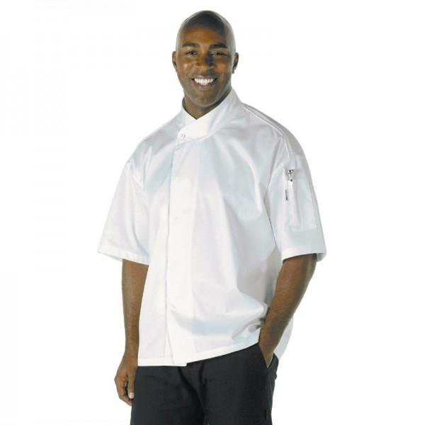 Chef Works Tours Chefkochjacke kurze Ärmel weiß L