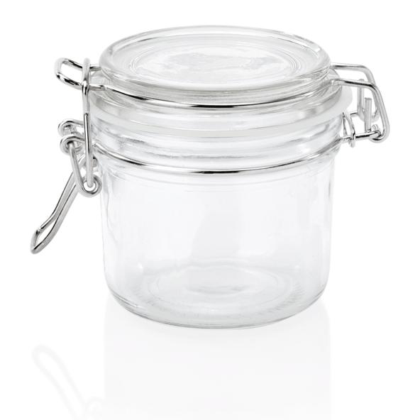 Bügelverschlussglas mit Deckel, 0,20 ltr., Ø 8 cm, Glas