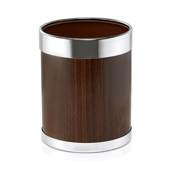 Papierkorb, Ø 22 cm, braun, pulverbeschichteter Stahl