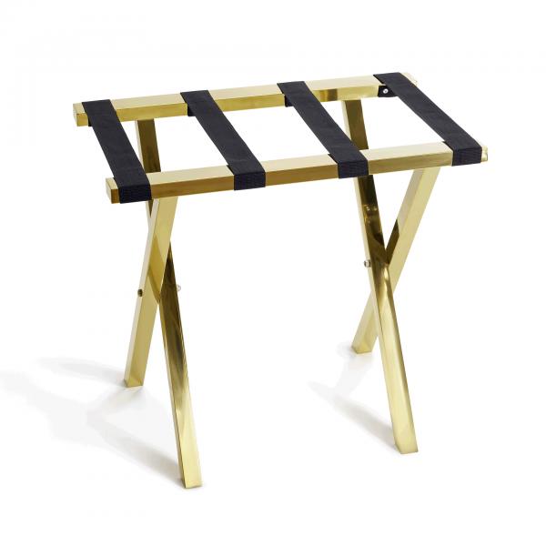 Gepäckablage, 62 x 40 x 53 cm, goldfarben, Chromnickelstahl