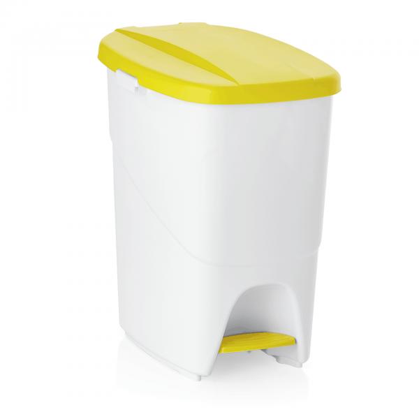 Treteimer mit gelbem Deckel, 25 ltr., Polypropylen