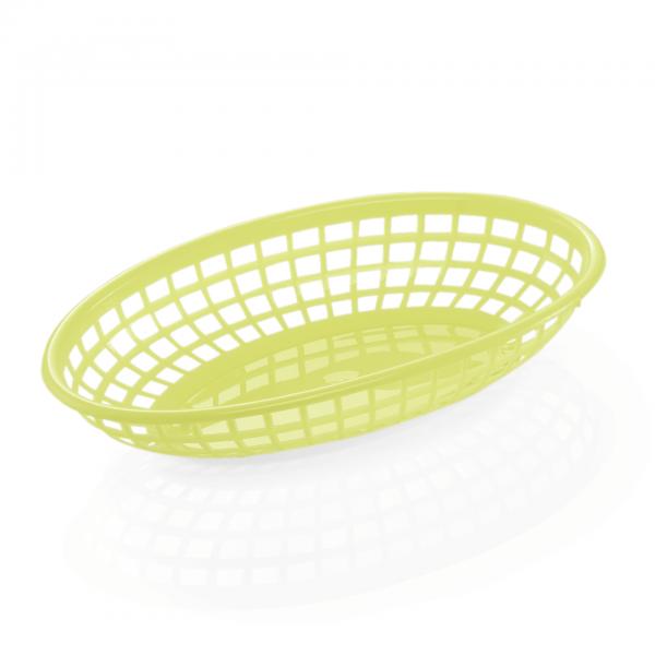 Tischkorb, 23 x 15 x 4,5 cm, gelb, Polyethylen